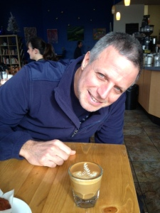 Noam Gordon enjoying Gibraltar @ Bellano Coffee