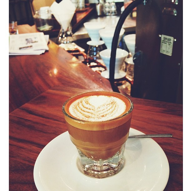 Pamela Ocampo @pmocampo Ordered a cortado but got a gibraltar instead, can't complain! @ Intelligentsia Coffee http://instagram.com/p/Z-jvjypZBv/ 31 May